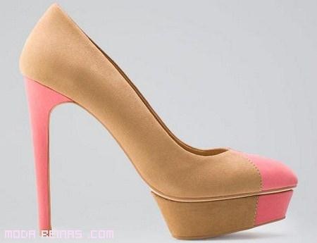 zapatos de ante bicolor
