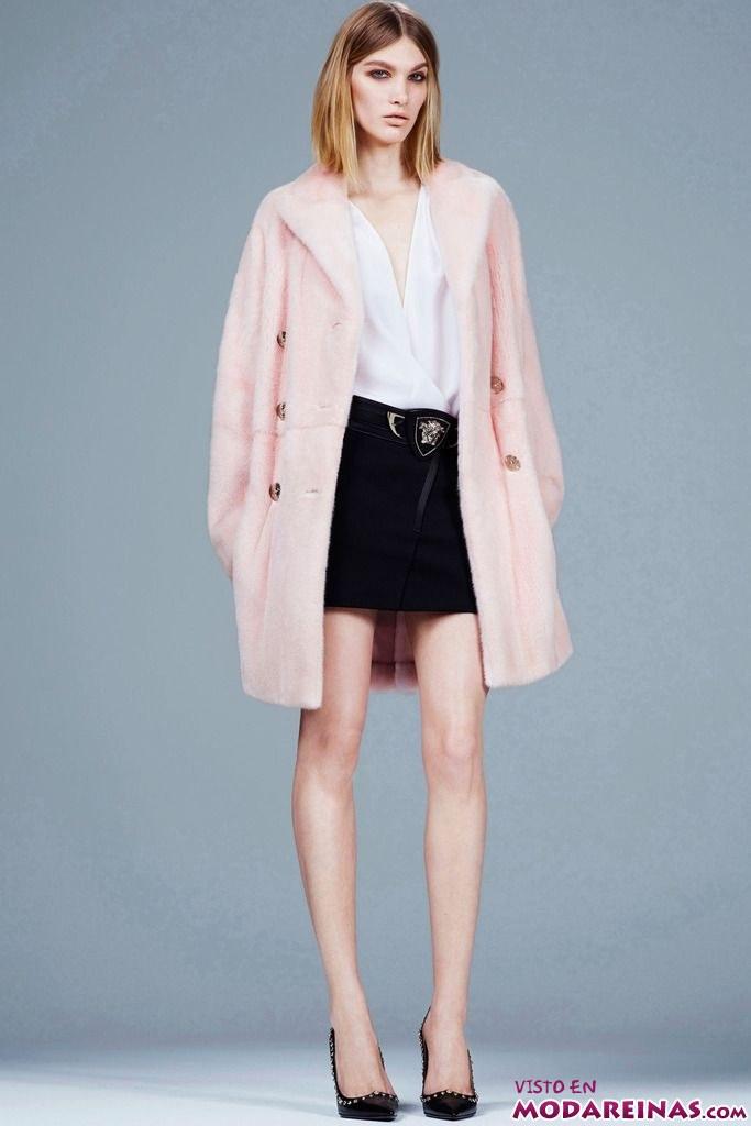 abrigo en color rosa