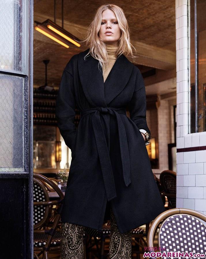 abrigo negro de hm