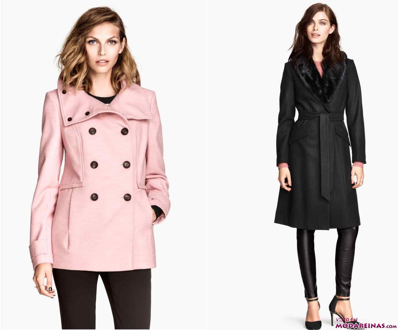 abrigos de colores H&M
