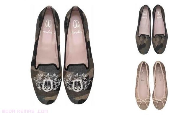 zapatos sin tacón estampados