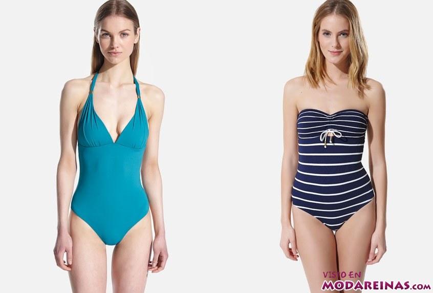 bañadores en color azul
