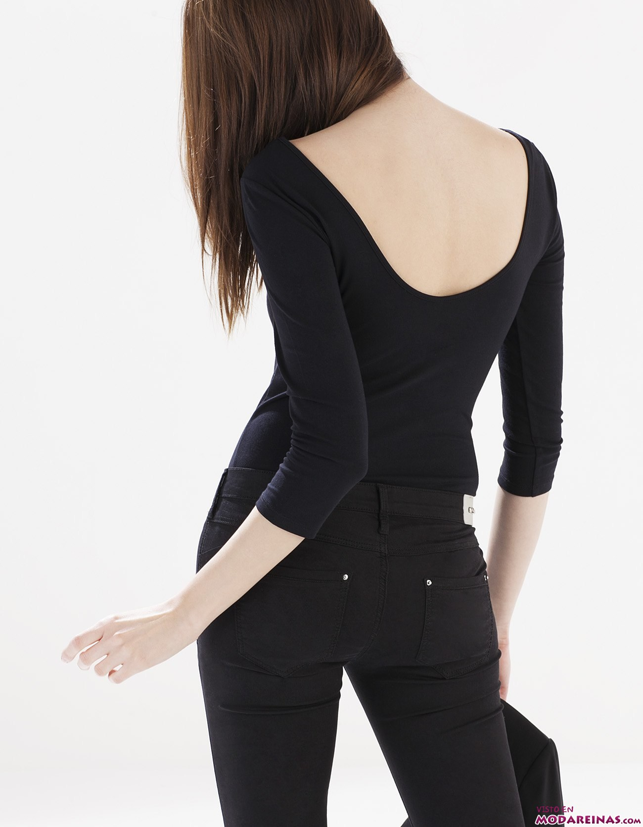 body de stradivarius en color negro