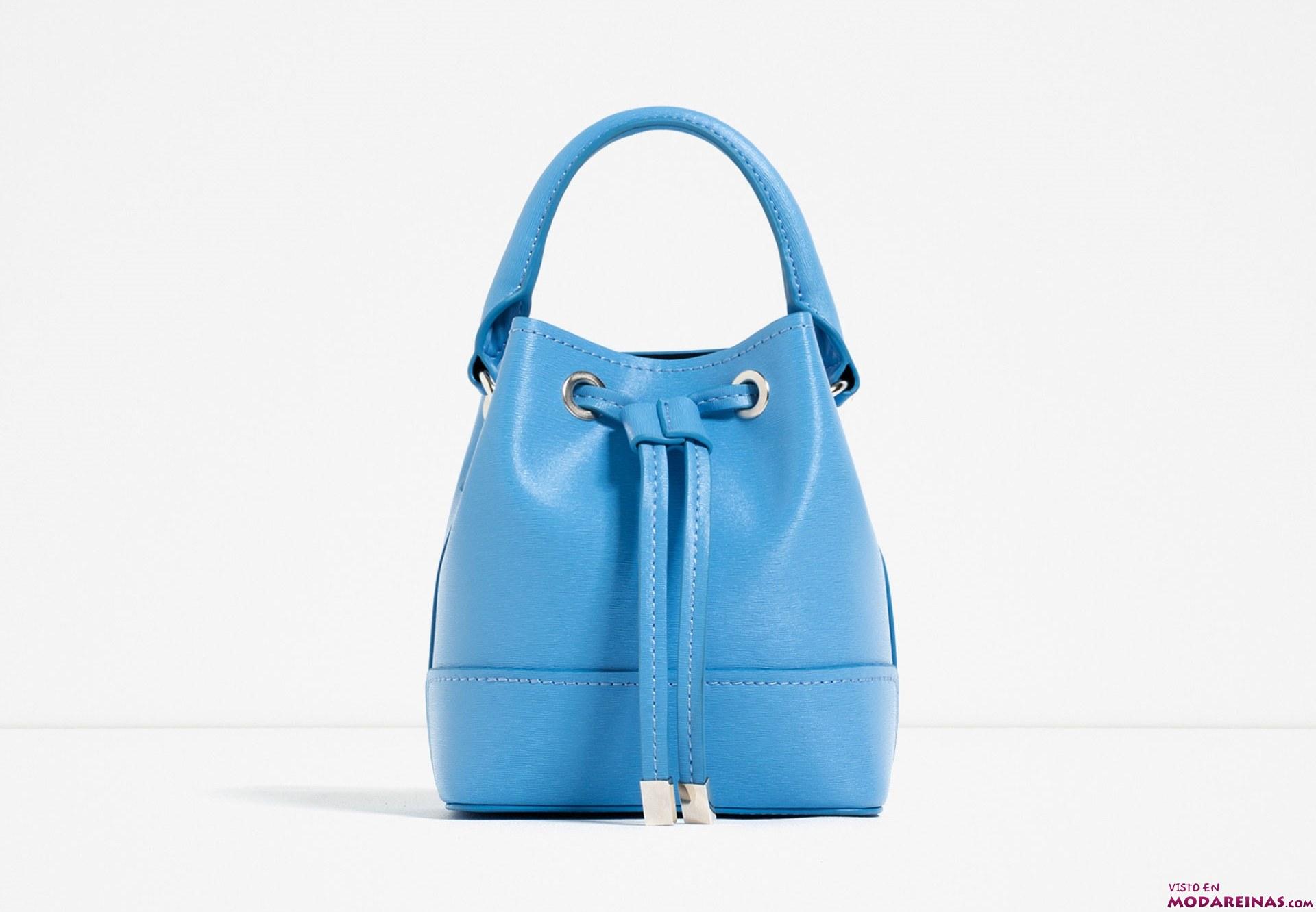 bolso azul mini bandolera