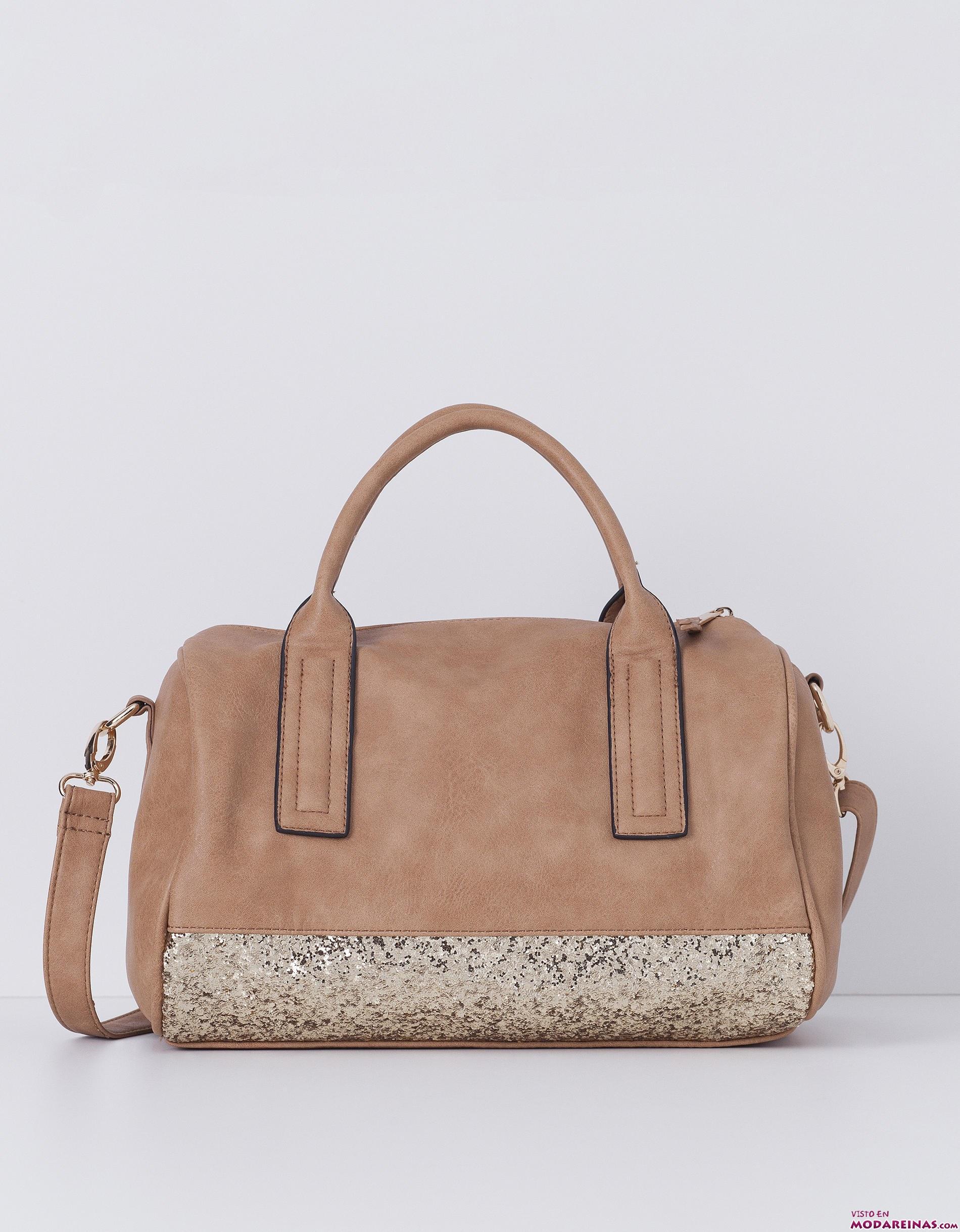 bolsos marrón de Blanco con glitter