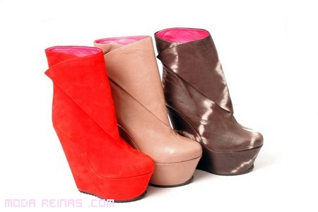 botas cuña de colores