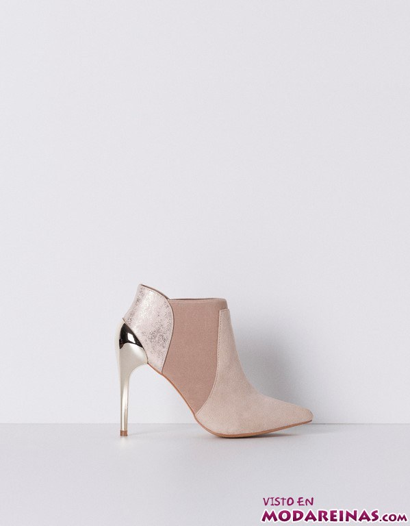 botines metálicos de blanco