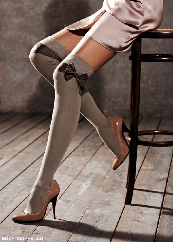calcetines con lazos