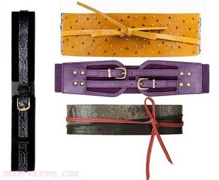 cinturones anchos de lazo