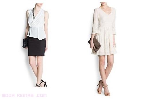 vestidos de moda con escotes  a pico