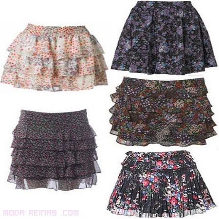 faldas moda otoño estampadas