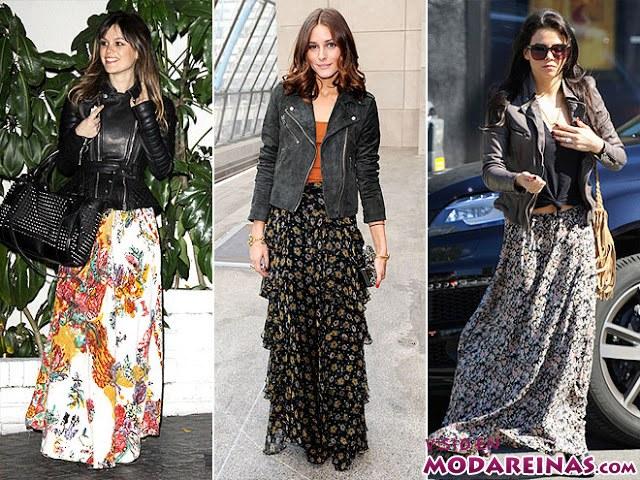 faldas largas de famosas