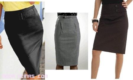 faldas con cinturas altas para marcar silueta