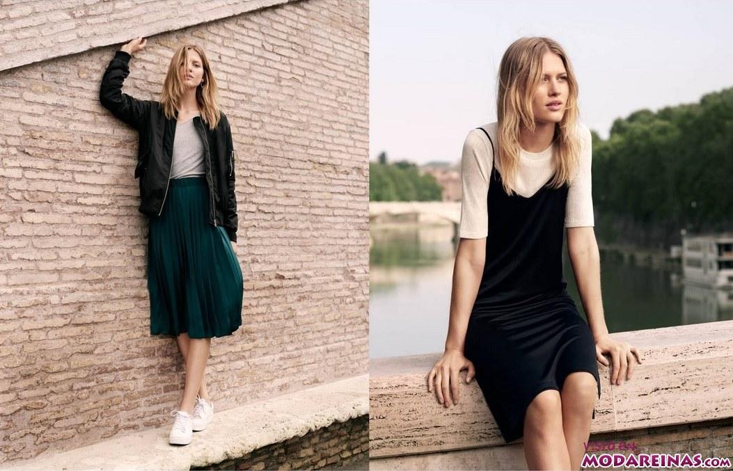 faldas y vestidos h&m