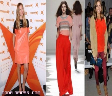 Pasarela de la moda en tonos mandarina