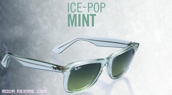 gafas verdes de  moda