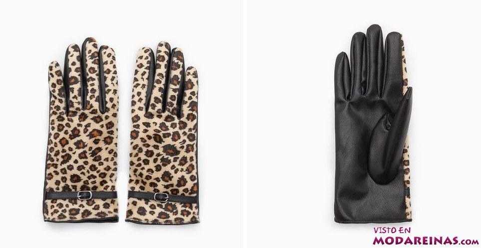 guantes estampados de stradivarius