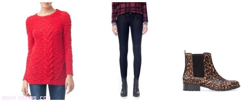 jerseys combinados con jeans pitillo