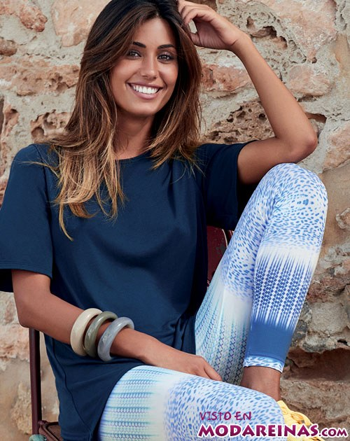 leggings color azul