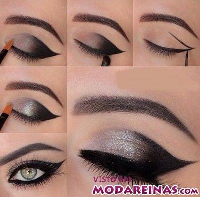 maquillaje con delineado marcado