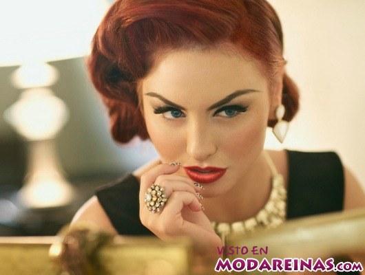 maquillaje retro sensual