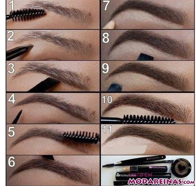 maquillar cejas paso a paso