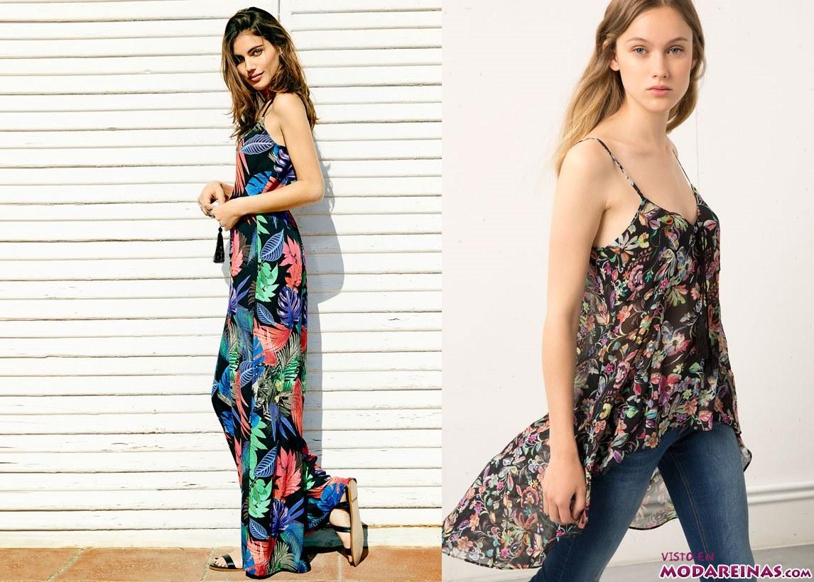 moda bershka con estampados florales