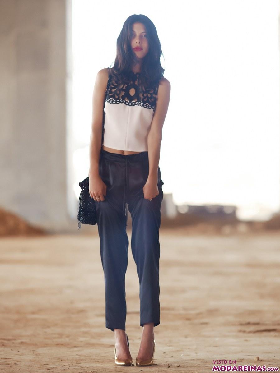 pantalón y top de francesca miranda