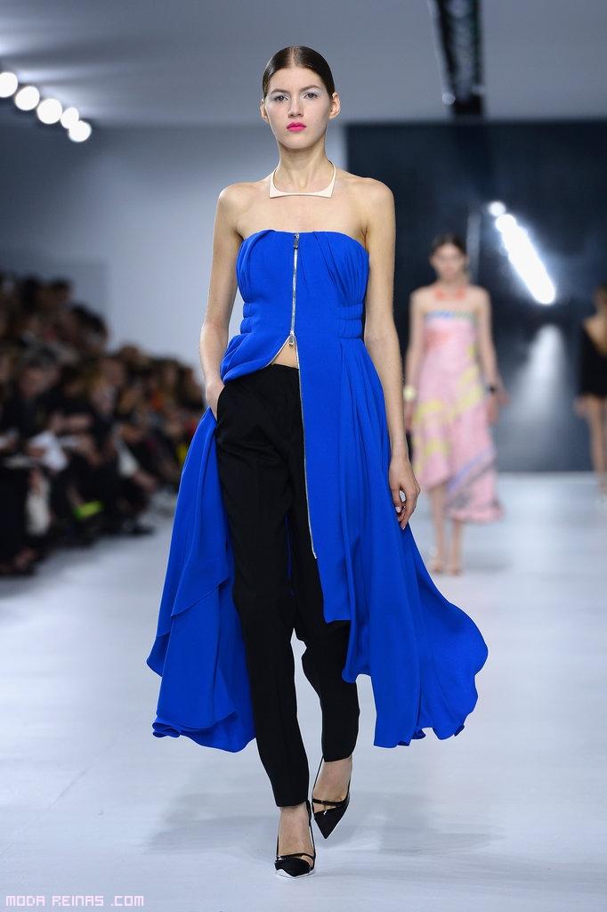 blusas largas en color azul