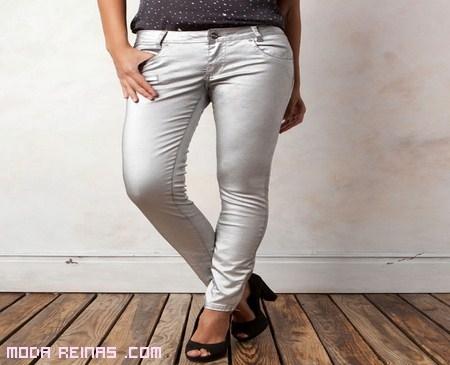 Pantalones de moda metalizados