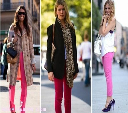 pantalones pitillo rosa