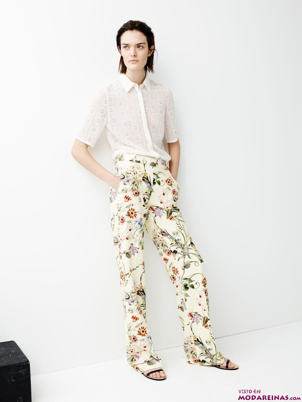 pantalones zara estampados