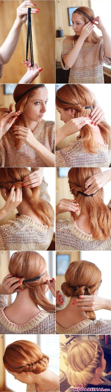 peinado con diadema paso a paso