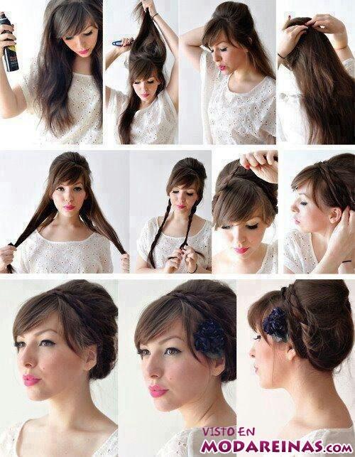 peinado sencillo paso a paso