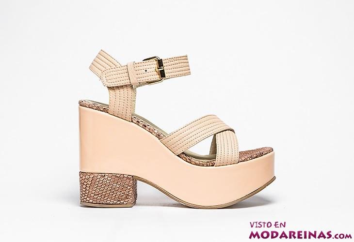 sandalias con plataforma de donne