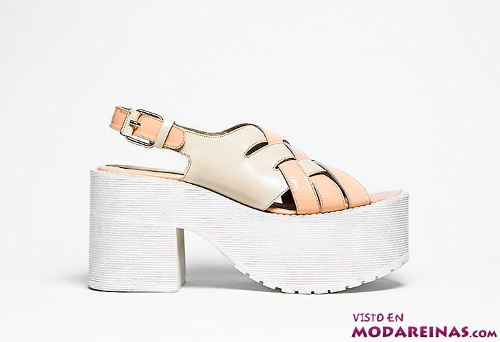 sandalias con plataforma de goma