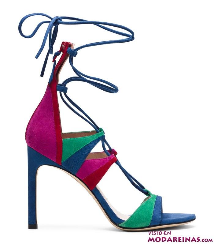 sandalias de tacón fino y muchos colores