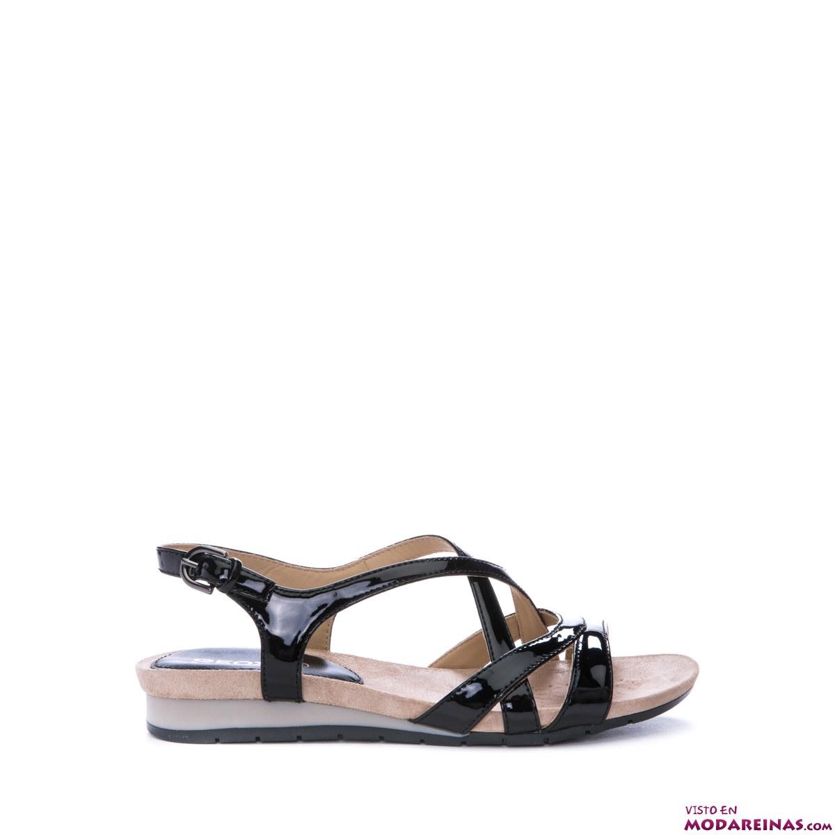 sandalias en negro geox