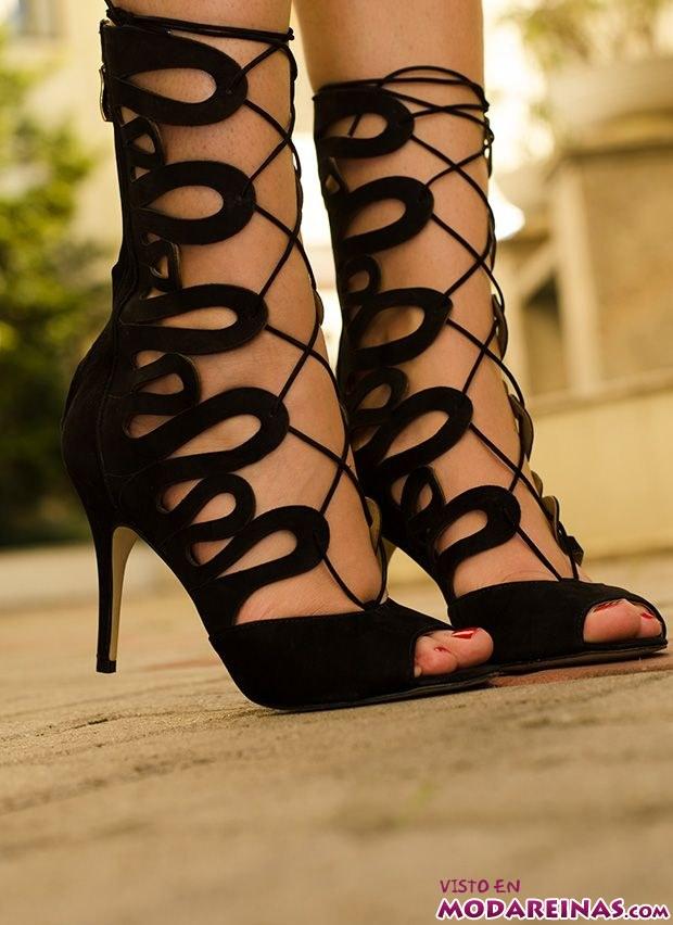 sandalias gladiadoras de tacón