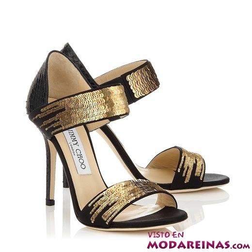 sandalias metalizadas en dorado