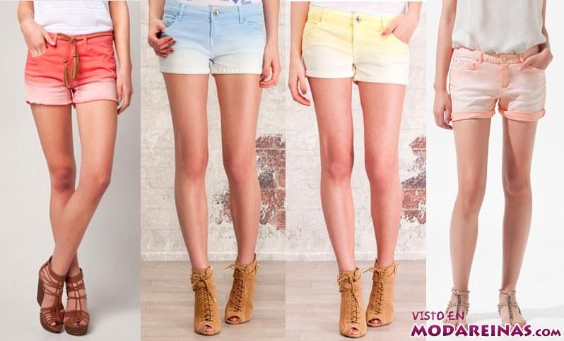 shorts de colores degradados