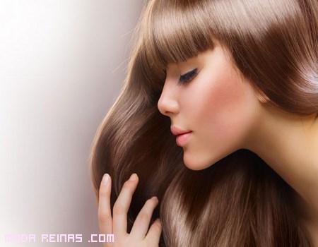 cabello con brillo