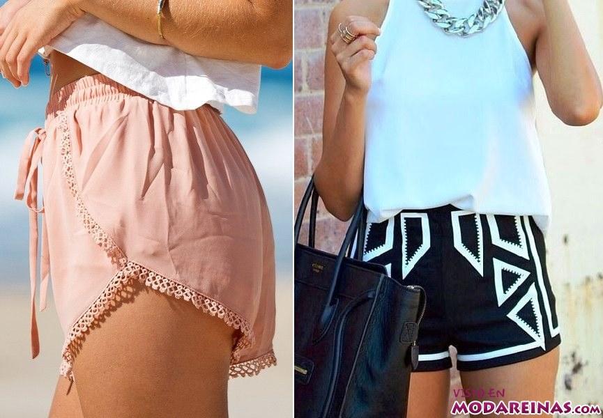 tipos de shorts a la moda