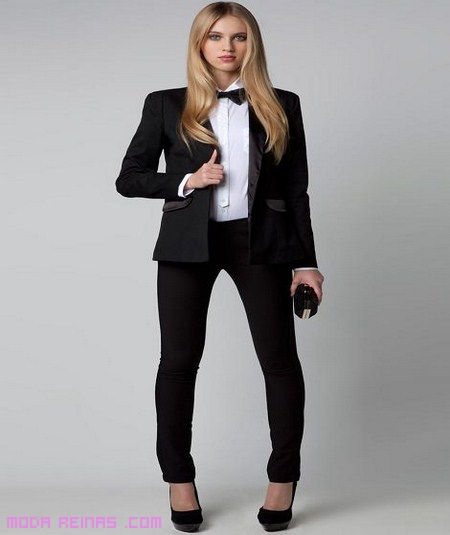 mujer con traje