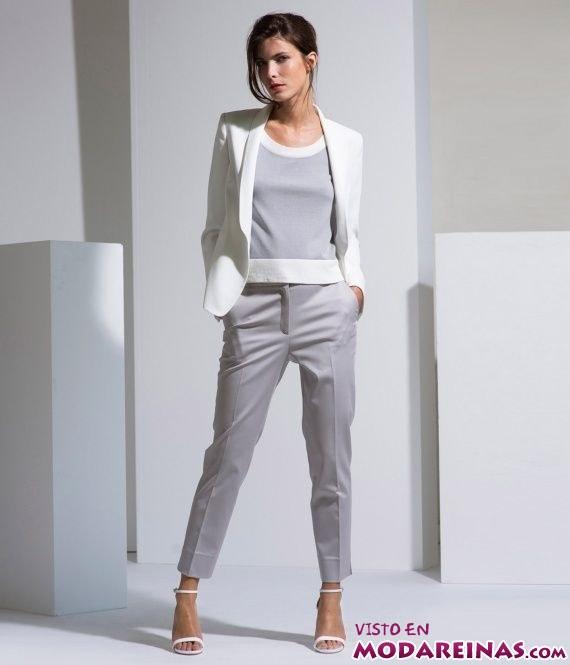 trajes de pantalón en gris