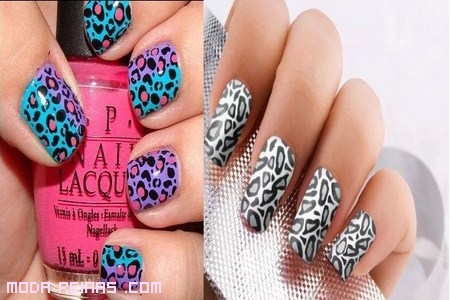 manicure leopardo colores