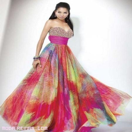 vestido de fiesta de colores