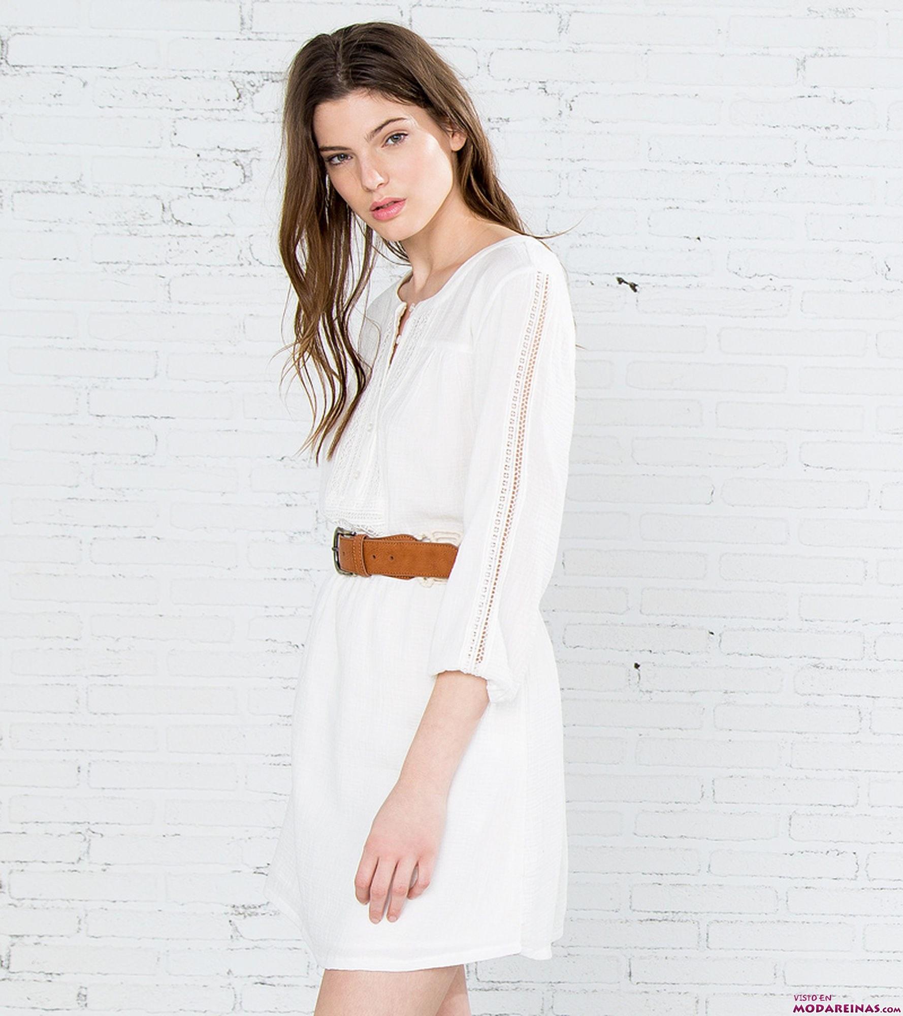 vestido blanco de crochet