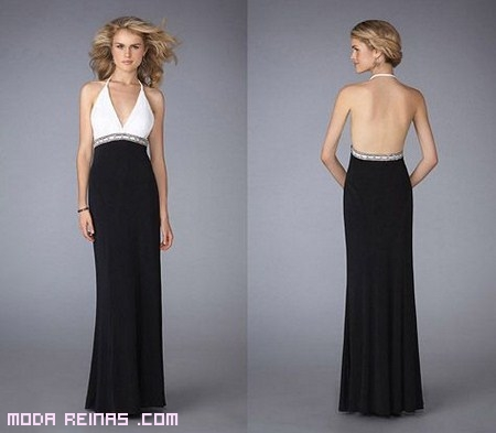 vestido sin espalda de moda