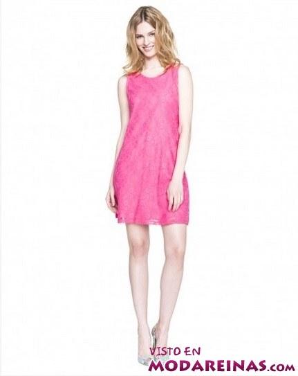 vestido corto en rosa de Benetton